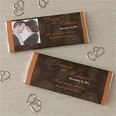 Wedding Favor Personalized Chocolate Bar Wrappers