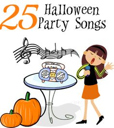 25 Halloween Party Songs - - Play them at a party or just to get you in the spooky mood. #Halloween #Party #music