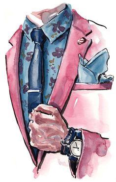 Art ⬜ ️◾ ️▫ fashion illustration drawing에 있는 farnoush님의 핀 - 2019 модная илл Illustration Mode, Fashion Illustration Sketches, Fashion Sketches, Fashion Drawings, Daily Fashion, Fashion Art, Trendy Fashion, Mens Fashion, Fashion Design
