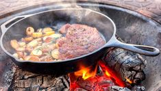 From roasted nuts to seared steaks, campfire food can be more mouth-watering than the meals you cook at home. Here are 10 recipes to try on your next camping. Roasted Tomato Sauce, Roasted Nuts, Campfire Food, Balanced Meals, Camping Meals, Camping Recipes, Cook At Home, No Cook Meals, Food To Make
