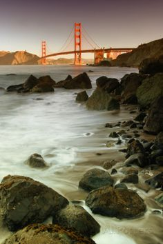 Baker Beach and the Golden Gate Bridge Photographic Print by Vincent James
