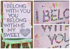 I Belong With You - Subway Art: (Visit Hazel And Ruby for more details)