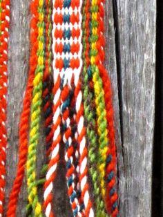 Hand woven wol Belt wool flax strap bohemian by Gunaspaleteplus