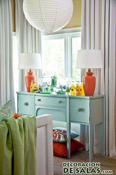 mueble turquesa para habitación