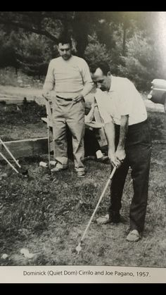 Rare pic of 2 Genovese family powerhouses playing golf.