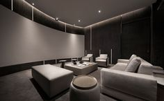 Home Theater Setup with Home Theater Seating Theater Room Decor, Home Theater Setup, Best Home Theater, At Home Movie Theater, Home Theater Speakers, Home Theater Seating, Home Theater Design, Home Cinema Room, Home Theater Rooms