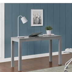 Redefine your workspace or any room in your home with the sleek, minimalist lines of this attractive Writing Desk with 2 Drawer. Double the size of a standard parsons desk, this XL has 2 drawers and even more desktop space for your office essentials.