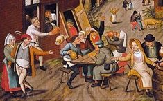 Page of Peasants Making Merry outside a Tavern 'The Swan' by BRUEGHEL, Pieter the Younger in the Web Gallery of Art, a searchable image collection and database of European painting, sculpture and architecture Pieter Brueghel El Viejo, Georg Trakl, Web Gallery Of Art, Pieter Bruegel The Elder, Medieval Paintings, Galerie D'art En Ligne, Dutch Painters, Dutch Artists, Art For Art Sake