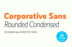 Corporative Sans Rd Cnd - 79% off! by Latinotype on @creativemarket