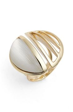 Alexis Bittar 'Lucite® Metal' Cocktail Ring