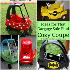 Cozy Coupe Redos - love this though I'm too lazy to ever do it/my kid wouldn't know the difference