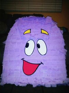 My Dora Backpack pinata made of empty diaper boxes.. ( For my daughter's second birthday)