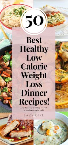 50 Best Healthy Low Calorie Weight Loss Dinner Recipes - With this list of 50 healthy, delicious and low calorie weight loss meals, you have no excuse not t - Weight Loss Meals, Weight Loss Drinks, Nutritious Meals, Healthy Snacks, Healthy Eating, Dinner Healthy, Healthy Fruits, Clean Eating, Healthy Mummy