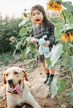 Em bé Hà Nội gây sốt vì gương mặt sợ chó dễ thương quá mức cho phép