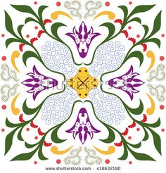 Seamless pattern with ornament floral