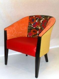 Orange/red tubchair