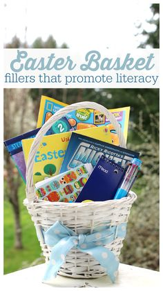10 easy Easter basket fillers (bonus: they help develop literacy skills!).