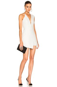 Shop for Michelle Mason Asymmetrical Plunge Mini Dress in Ivory at FWRD. Free 2 day shipping and returns.
