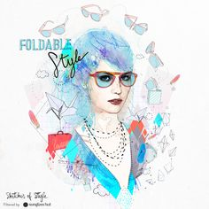 Illustration by Raphaël Vicenzi . For more foldable styles: http://sgls.ht/GF082a #Sunglasses #SketchesOfStyle #FallTrend