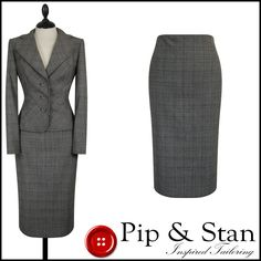 M+S UK10/12 US6/8 GREY WOOL TWEED PENCIL SKIRT SUIT WOMENS WOMAN SIZE PIP & STAN | eBay