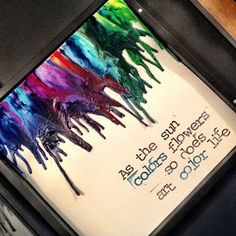 Kill Them With Craftiness: Guest Post: Melted Crayon Art Tutorial