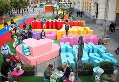 3D type installation to promote the Malmöfestivalen festival in Sweden.