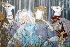 French illustrator, Adrienne Segur-- Deer Maid