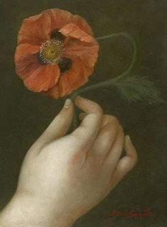 Hand with Poppy by Fatima Ronquillo