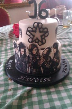 Black Veil Brides Cake I want this!!! For my bday I got a ptv cake its was awesome n yummy^-^