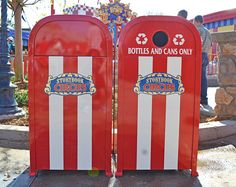 We return to Storybook Circus for a closer look at the duel trash/recycling cans found in this new area of Fantasyland