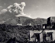 Mt. Vesuvius eruption, San Sebastiano al Vesuvio, 1944 by SMU Central University Libraries, via Flickr