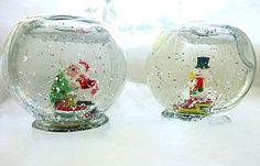 Este simpático globo de neve artesanal é muito lindo e fácil de ser feito (Foto…