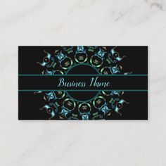 Shop Turquoise Pearl Mandala Business Card 3 created by BlueRose_Design. Business Names, Business Card Design, Mandala, Things To Come, Turquoise, Pearls, Prints, How To Make, Color