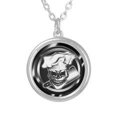 Custom Chef Skull Necklace