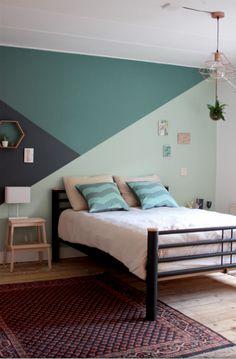 Bedroom Paint Design, Bedroom Wall Designs, Bedroom Wall Colors, Room Ideas Bedroom, Home Room Design, Home Bedroom, Bedroom Decor, Girls Room Paint, Room Wall Painting