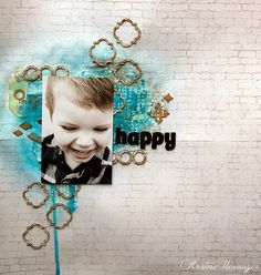 DT Blue Fern Studios - HAPPY - BY KRISTINE HENANGER