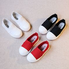 (27.00$)  Buy here - http://ai0zf.worlditems.win/all/product.php?id=32800303243 - 2017 children's canvas shoes boys girls children's Sneakers low top shoes casual sports shoes baby lazy shoes flats kids loafers