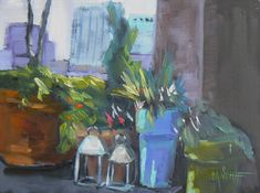 Daily Painting  Manhattan Rooftop 6x8 by CarolSchiffStudio on Etsy, $99.95