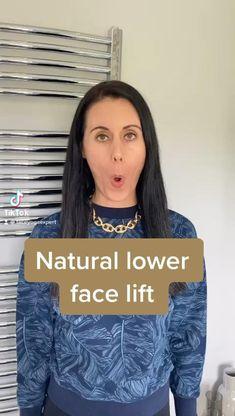 Lower Face Lift, Face Lift Exercises, Face Yoga Method, Facial Yoga, Natural Skin Care, Natural Face Lift, Face Massage, Face Contouring, Face Skin Care