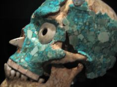 turquoise and skull