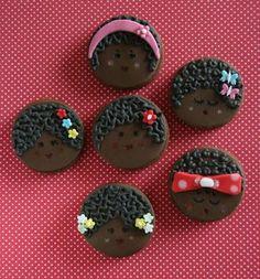 Galletas decoradas de Negritas y Primer Año de Blog!!!