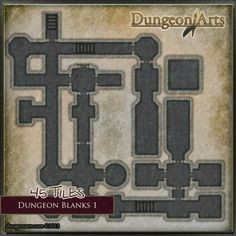 Dungeon Blanks 1 - Fantasy Dungeon Tiles for tabletop role-playing games and virtual tabletops like Roll20.net