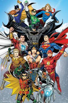 DC Comics Rebirth Poster Official Licensed 24 x 36 Inches Cyborg Dc Comics, Marvel Dc Comics, Héros Dc Comics, Dc Comics Funny, Dc Comics Poster, Dc Comics Girls, Comic Poster, Dc Comics Superheroes, Dc Comics Characters