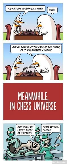 Not playing chess again