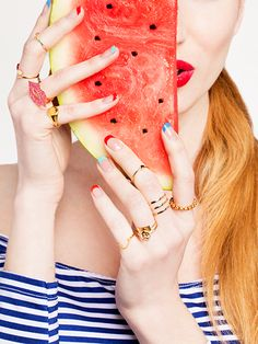 To get pumped for Popsicle-and-watermelon season, we came up with six ideas for layering all your dangly, bangly accessories this summer--and paired them with our favorite warm-weather eats.