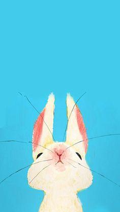 iPhone壁纸 iPhone5壁纸 兔子 可爱 插画…_来自脆脆虾的图片分享-堆糖网