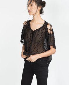 zara 2015 fall - lovely plumetis blouse
