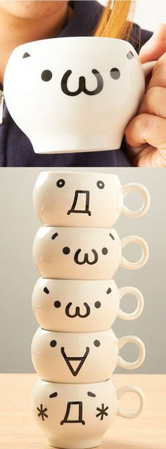 These Japanese kaomoji mugs are a surprisingly effective way of expressing your current mood without having to say a single word! Whether you're sad, excited or angry, everyone at the office will know exactly how well your morning is going. #kawaii #cute #japan