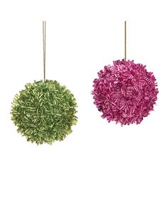 Sequined Ball Ornament Set