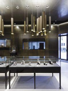Bucherer store by Blocher Blocher Partners - St.Moritz, Switzerland. The lighting.